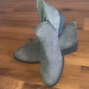 🆕 Eileen Fisher Dole Suede Embossed Ankle Boots